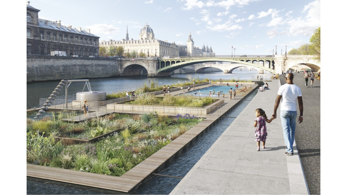 Piscine cologique flottante projet for Projet piscine